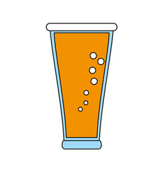 cold glass beer vector image