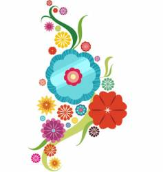 flower abstract vector image