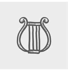 Lyre sketch icon vector image