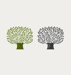 tree logo or symbol nature ecology environment vector image