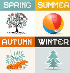 4 - Four Seasons vector