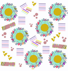 abstract geometric adorable seamless pattern it vector image