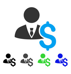 Banker flat icon vector