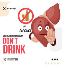 Banner design of dont drink vector