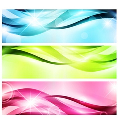 banner set vector image