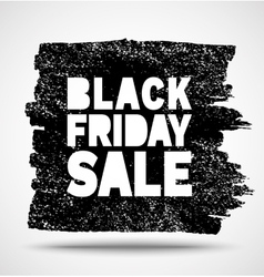 Black Friday Sale hand drawn grunge stain vector