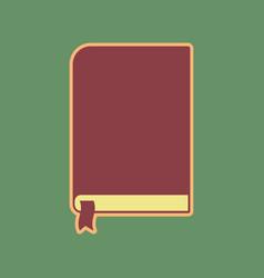 Book sign cordovan icon and mellow vector