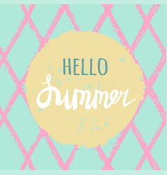 Bright summer card with hand drawn vector