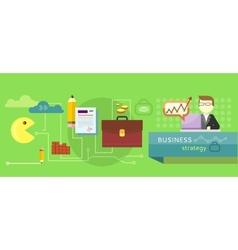 Business stategy concept vector image