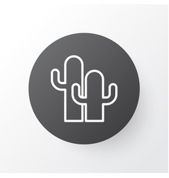 cactus icon symbol premium quality isolated cacti vector image