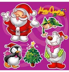 Christmas elements b vector
