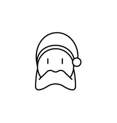 christmas santa outline icon element of new year vector image