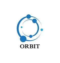 circle orbit science planet logo vector image