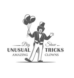 circus label isolated on white background vector image