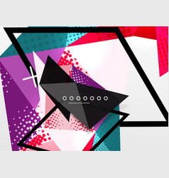 Color geometric abstract composition vector