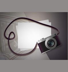 compact photo camera vector image vector image