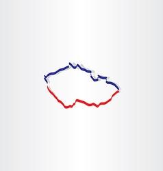 Czech republic map icon vector