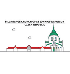 Czech republic pilgrimage church of st john of vector