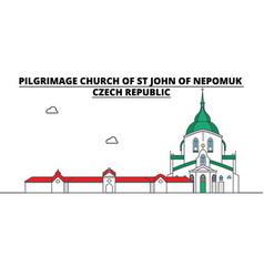 Czech republic pilgrimage church st john of vector