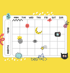 daily planner template vector image