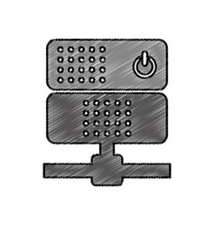 data server isolated icon vector image