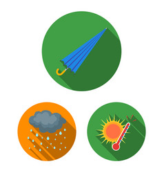 different weather flat icons in set collection for vector image