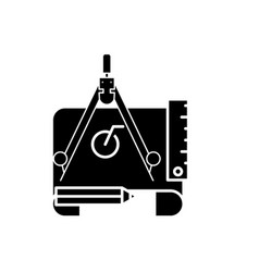 engineering project black icon sign on vector image
