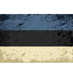 Estonian flag Grunge background vector