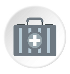 First aid kit icon circle vector
