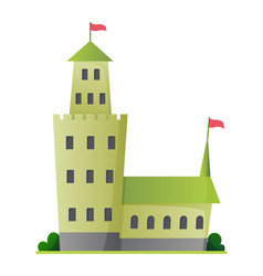 flat fairy tale castle medieval palace vector image