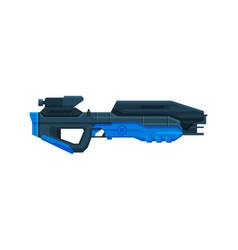 Futuristic space gun blaster fantastic laser gun vector