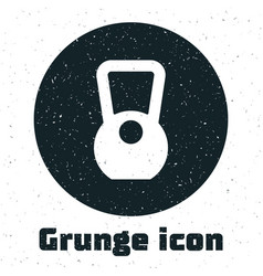 Grunge kettlebell icon isolated on white vector