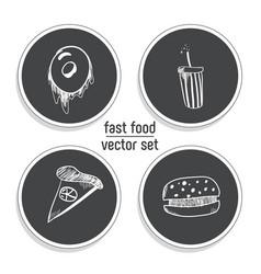hand drawn bakery sticker set blackboard icon vector image