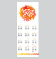 Hand drawn calendar for 2019 creative vector