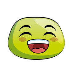 Happy emoji face icon vector