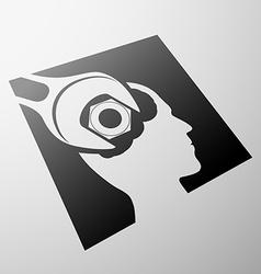 Human head stock vector