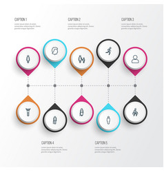 Human outline icons set collection of profile vector
