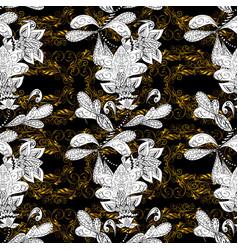 islamic design golden pattern on black white and vector image