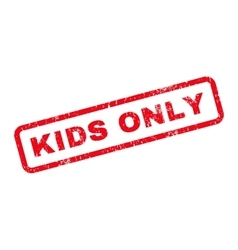 Kids only text rubber stamp vector