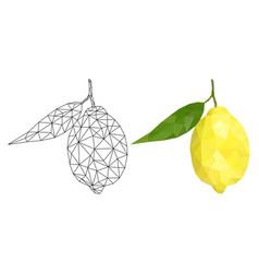 lemon polygonal vector image