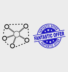 linear links icon and distress fantastic vector image