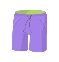 Long men shorts icon cartoon style vector