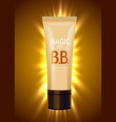 Luxury skin toner bb cream or peeling scrub vector