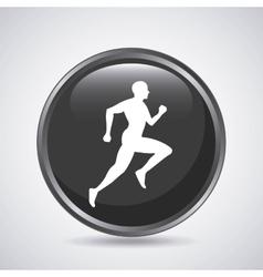 Man running icon Sport design graphic vector image