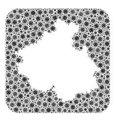 Map altai republic - flu virus collage with vector
