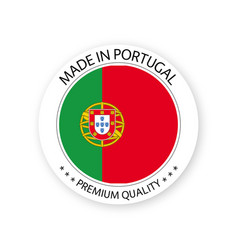 Modern made in portugal label vector