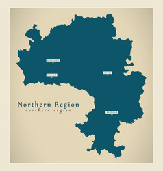 Modern map - northern region map ghana gh vector