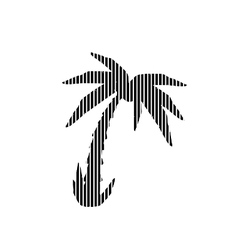 Palm sign on white vector image