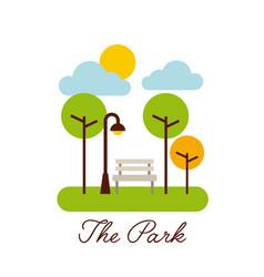 park landscape nature tree cloud vector image