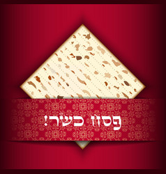 passover card with matza vector image